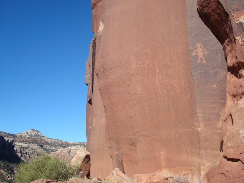 Petroglyphs and Mountains