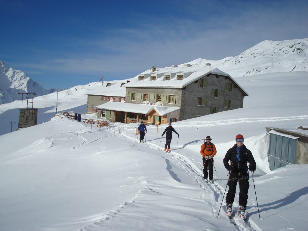 Last Day. Leaving the Pizzini Hut to head back to Sulden.